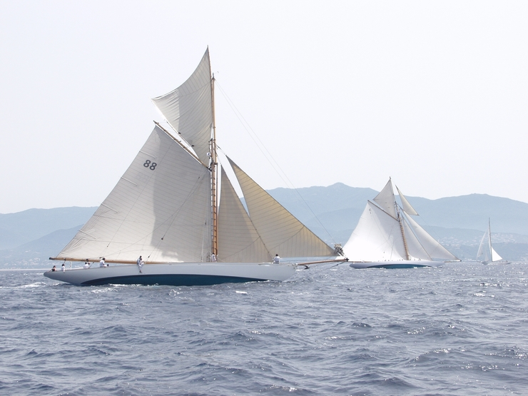 Les premiers yachts inscrits