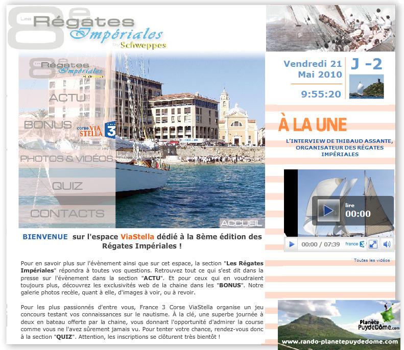 Les Régates Impériales 2010 comme si vous y étiez par France 3 Corse ViaStella