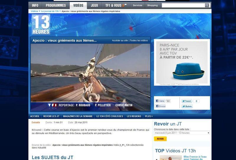 Les Régates Impériales 2011 sur TF1