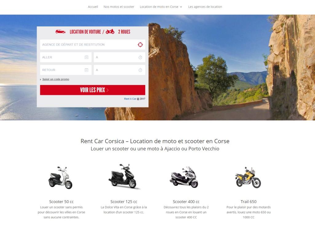 Location de moto en Corse